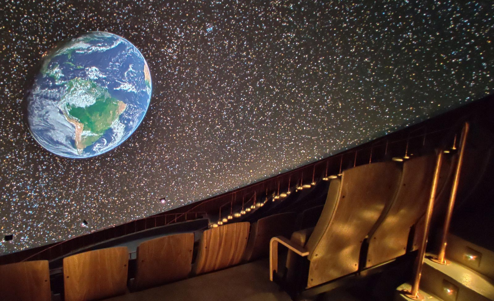 Digistar 7 imagery on the dome at Tycho Brahe Planetarium in Copenhagen, Denmark