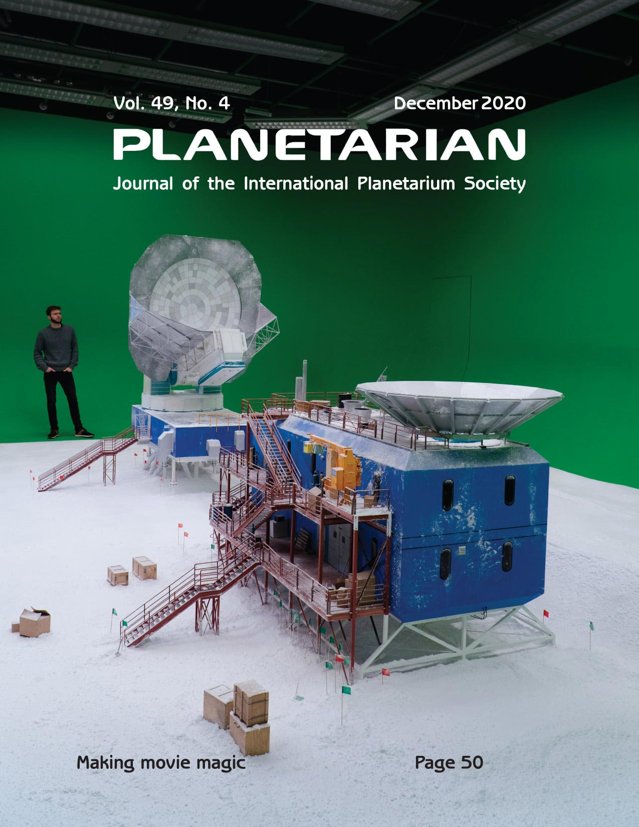 Cover of Planetarian magazine featuring Black Hole First Picture